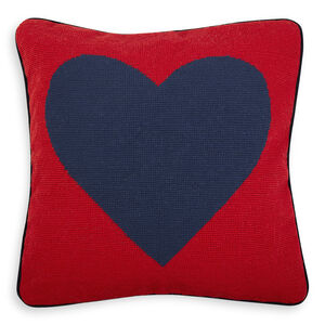 Needlepoint - Heart Needlepoint Throw Pillow