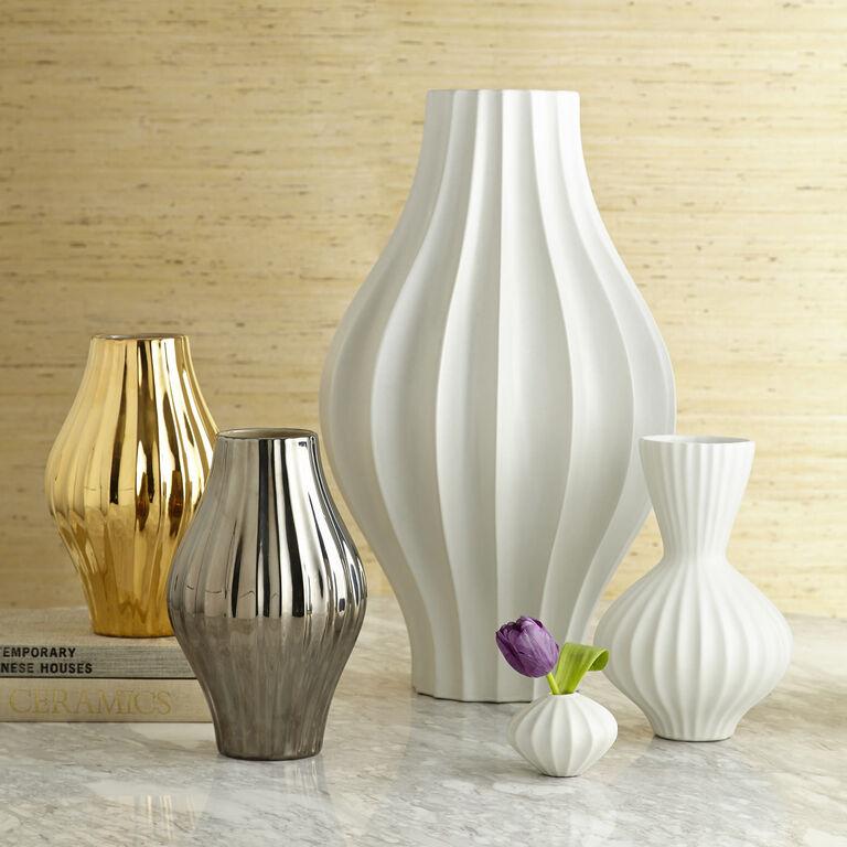 Vases - Metallic Belly Vase