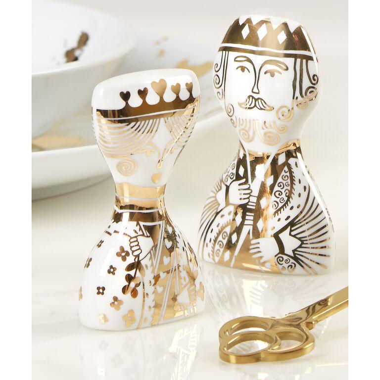 Salt & Pepper Shakers - King and Queen Salt & Pepper Shakers