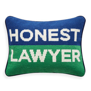 Needlepoint - Honest Lawyer Needlepoint Pillow