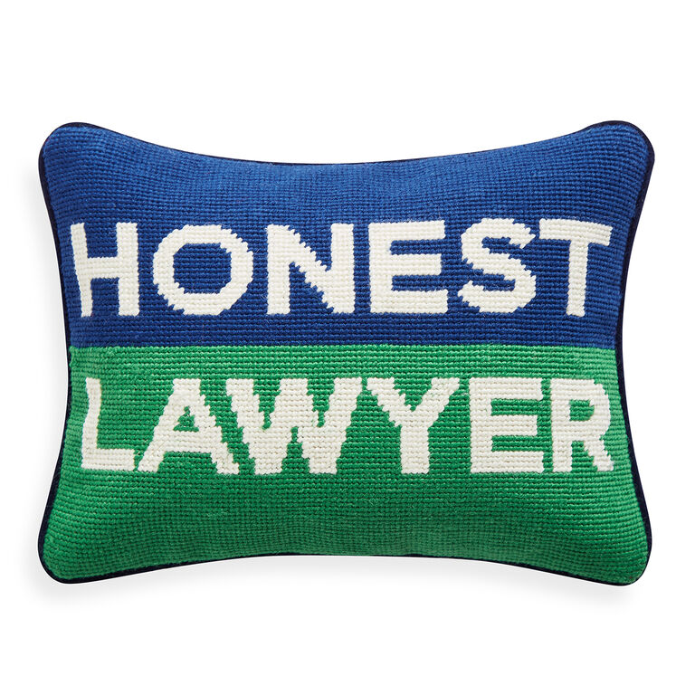 Holding Category for Inventory - Honest Lawyer Needlepoint Pillow
