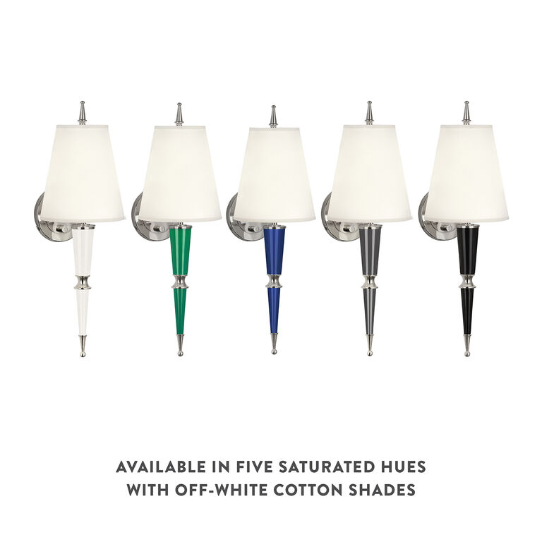 Versailles - Versailles Sconce in Nickel with Fabric Shade