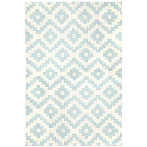 Peruvian Flat Weave - Blue Pierre Reversible Peruvian Llama Flat Weave Rug