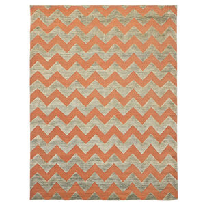 jonathan adler for kravet orange jagged area rug