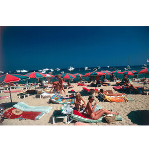 "Slim Aarons - Slim Aarons ""Beach at St. Tropez"" Photograph"