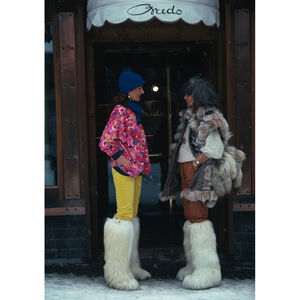 "Slim Aarons - Slim Aarons ""Cortina d'Ampezzo"" Photograph"