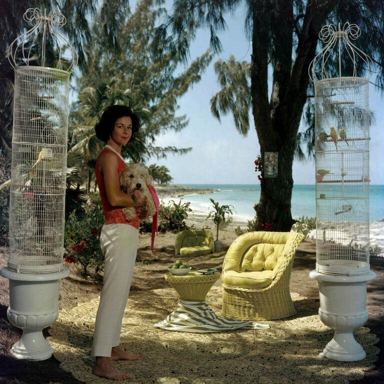 """Slim Aarons - Slim Aarons """"Gloria Schiff"""" Photograph"""