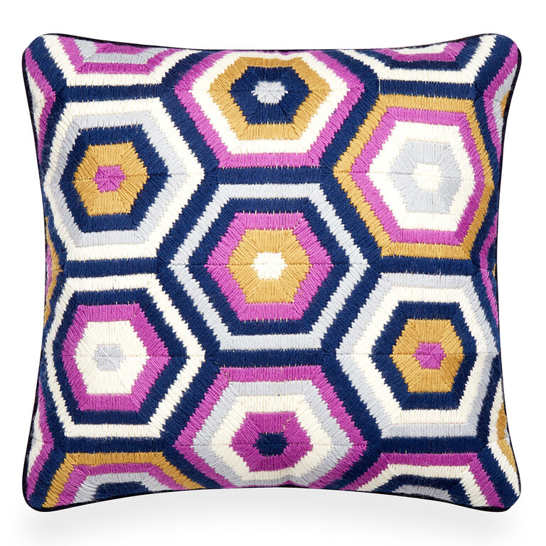 Patterned - Lavender Bargello Honeycomb Throw Pillow