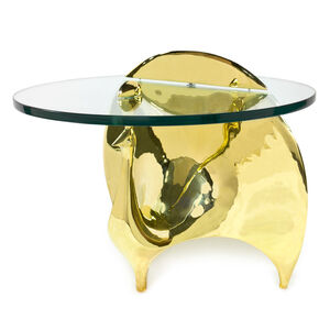 Side & Accent Tables - Brass Peacock Side Table