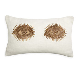Textured & Embellished - Muse Eyes Throw Pillow