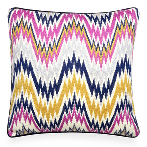 Patterned - Lavender Bargello Worth Avenue Throw Pillow