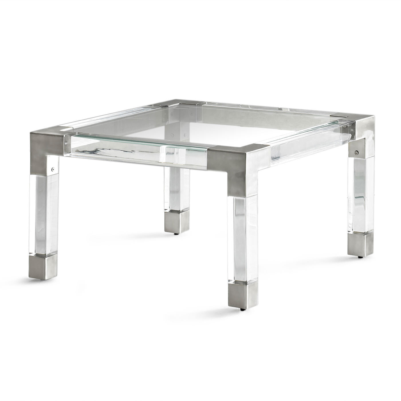 Jacques Acrylic and Nickel Cocktail Table Modern Furniture