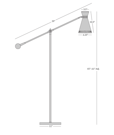 Havana Floor Lamp Isometric 1
