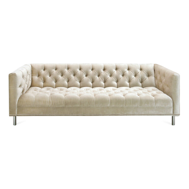 Baxter Sofa with Nickel Nailhead Trim, , hi-res