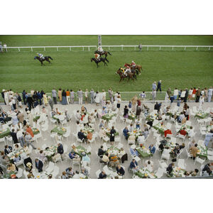 "Slim Aarons - Slim Aarons ""Racing at Baden Baden"" Photograph"