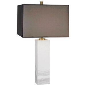 Tall Canaan Marble Grey Shade Table Lamp