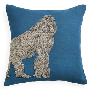 Textured & Embellished - Zoology Gorilla Throw Pillow