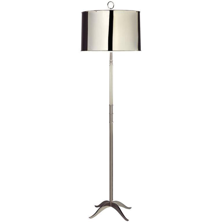 Porter silver floor lamp modern floor lamps jonathan adler for Best modern lighting websites