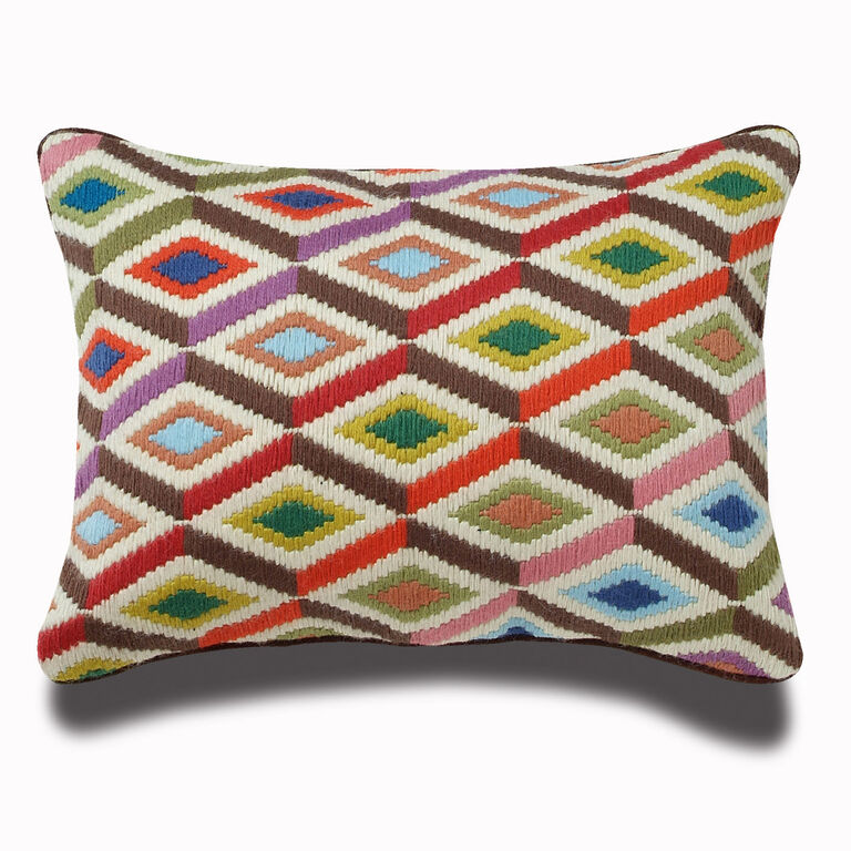 Holding Category for Inventory - Multi Diamonds Bargello Throw Pillow