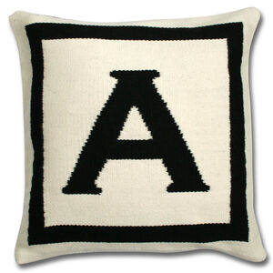 Woven Letter - Reversible Letter Throw Pillow