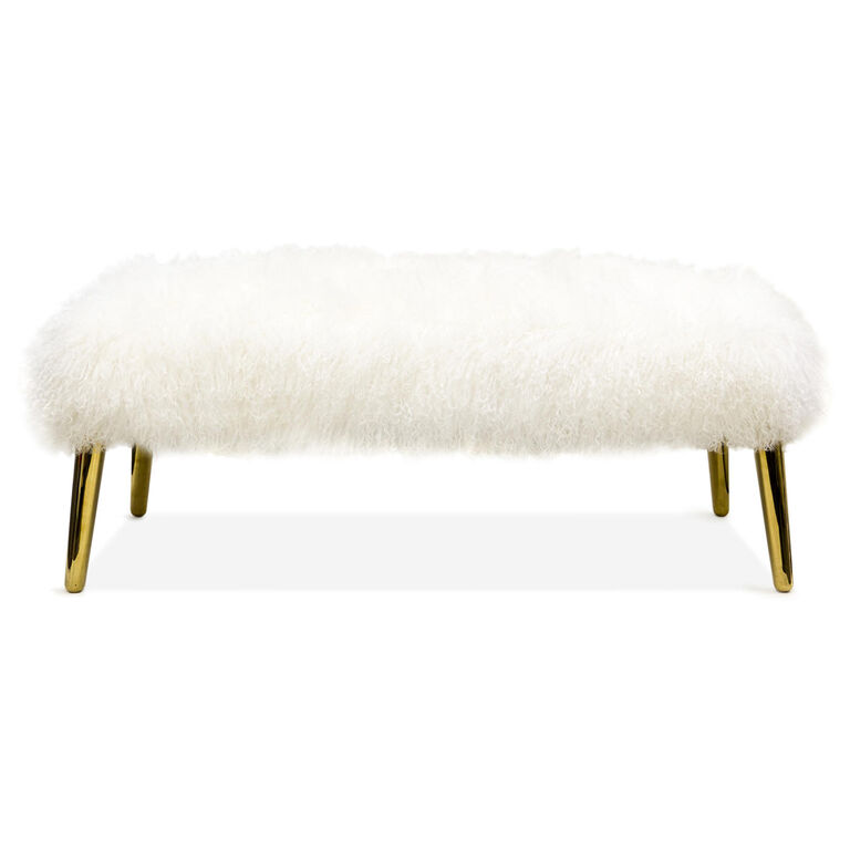 Benches & Ottomans - Large Mongolian Lamb Bench