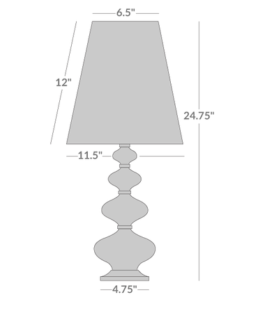 Claridge Component Table Lamp Isometric 1