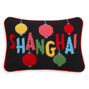 Needlepoint - Shanghai Needlepoint Throw Pillow