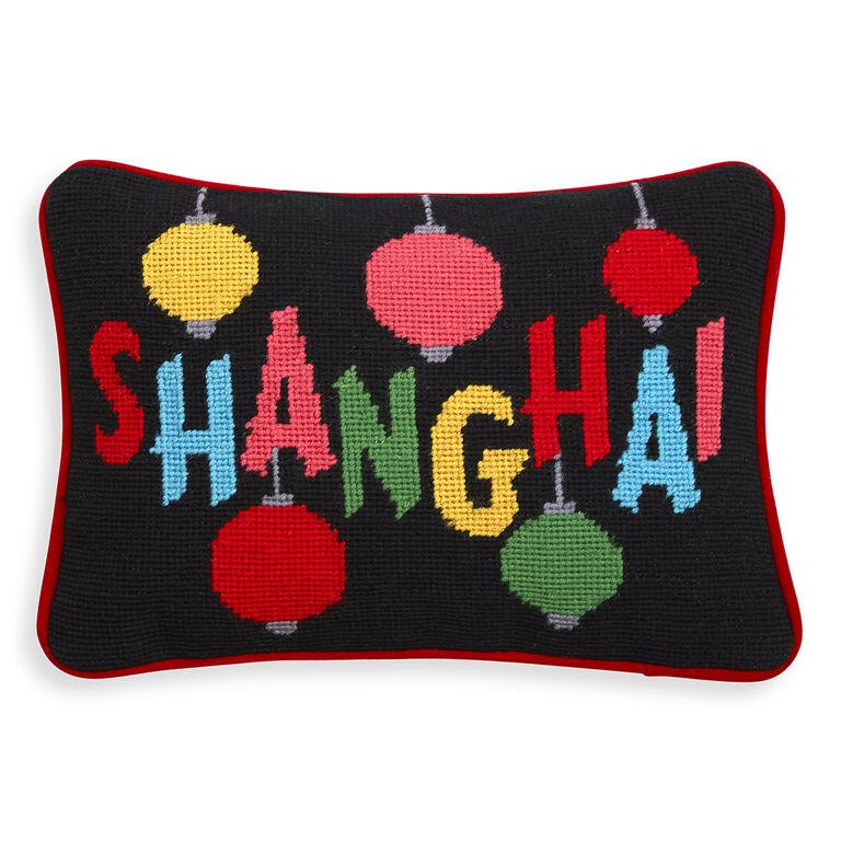 Needlepoint - Shanghai Needlepoint Throw Pillow