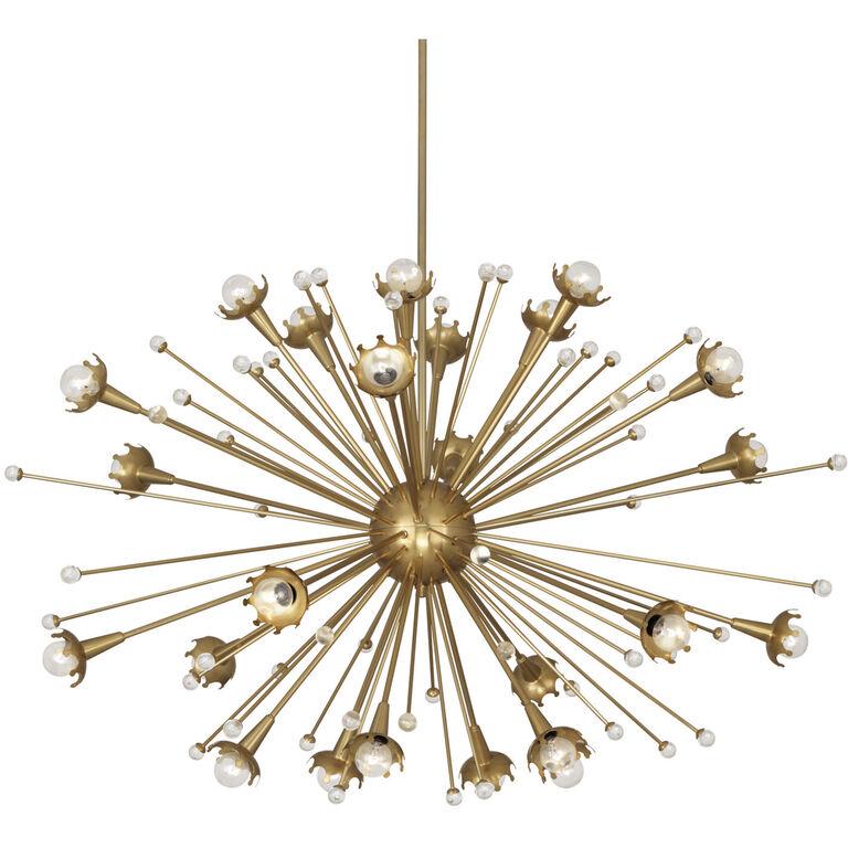 Giant sputnik brass chandelier modern chandeliers jonathan adler chandeliers giant sputnik chandelier aloadofball Image collections