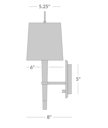 Ventana Sconce Isometric 2