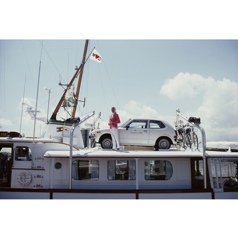 "Slim Aarons - Slim Aarons ""No Transport Problems"" Photograph"