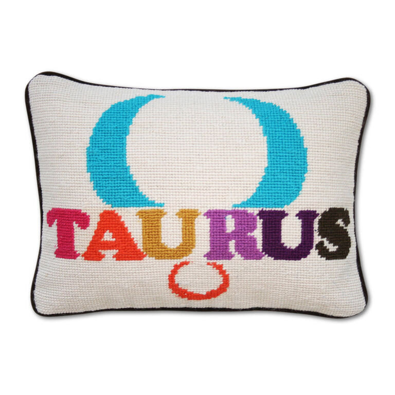 Holding Category for Inventory - Taurus Zodiac Needlepoint Throw Pillow