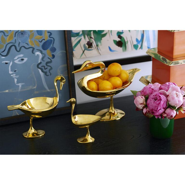 Brass Objets - Large Brass Bird Bowl