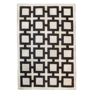 Peruvian Flat Weave - Black Nixon Peruvian Llama Flat Weave Rug