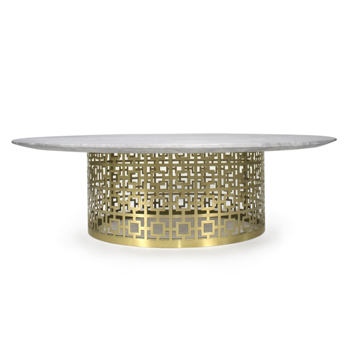 Nixon Marble and Brass Cocktail Table Modern Furniture