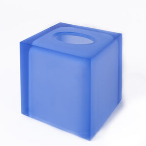 Bath Accessories - Blue Hollywood Tissue Box
