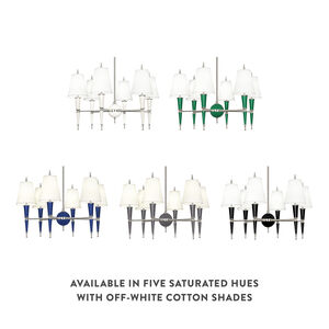 Chandeliers - Versailles Chandelier in Nickel with Fabric Shade