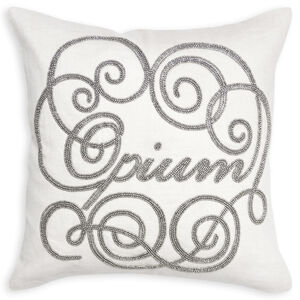 Textured & Embellished - Opium Beaded Linen Throw Pillow
