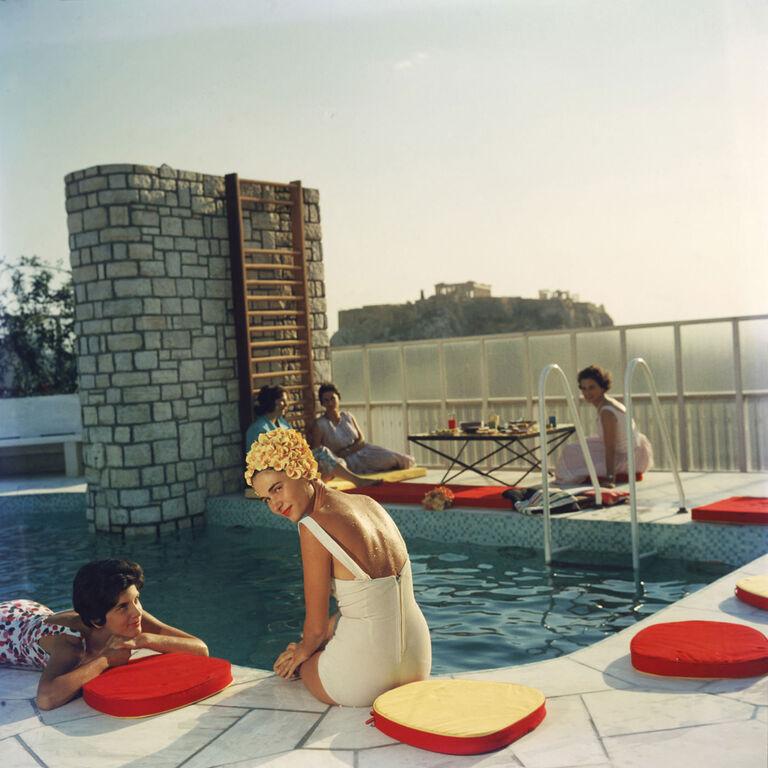 "Slim Aarons - Slim Aarons ""Penthouse Pool"" Photograph"
