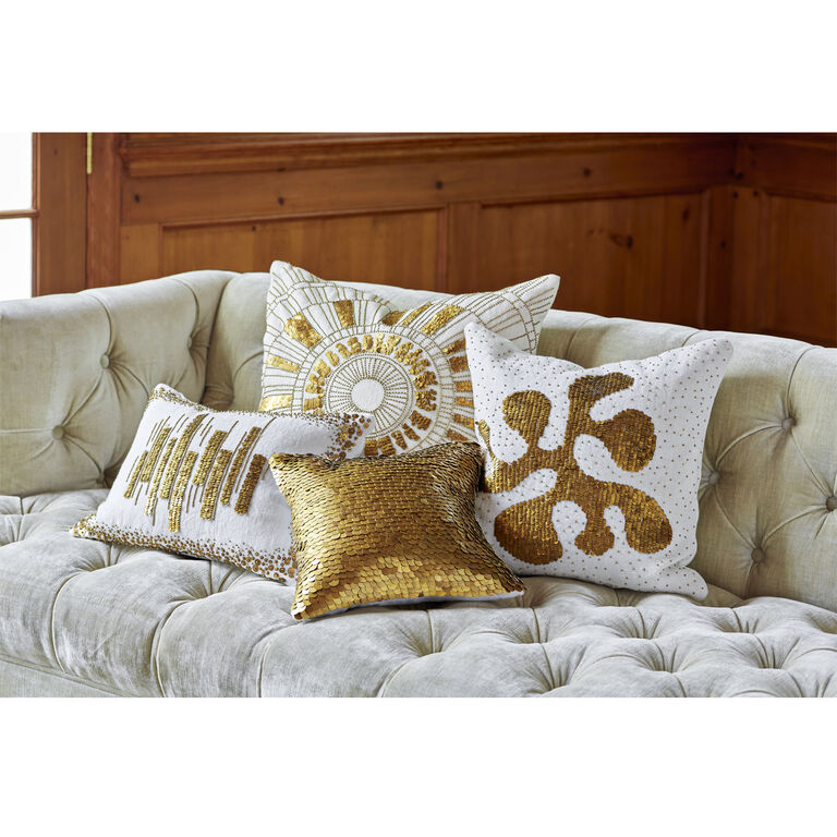 Textured & Embellished - Talitha Amoeba Throw Pillow
