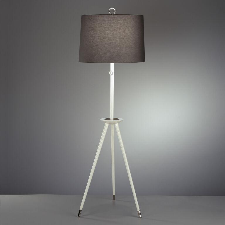 Ventana Ivory Tripod Floor Lamp Modern Floor Lamps