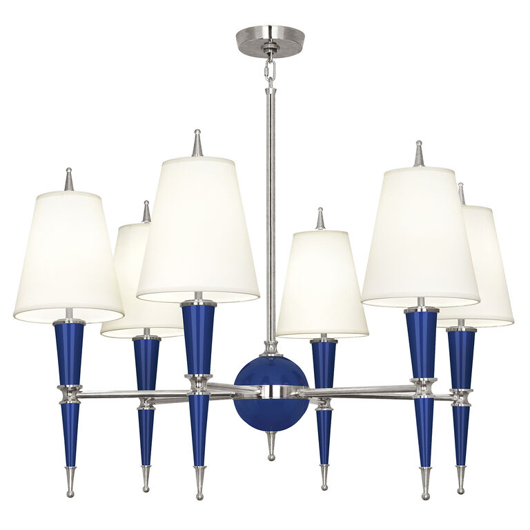 All New - Versailles Chandelier in Nickel