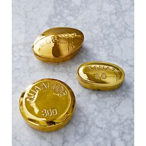 Brass Objets - Viagra Brass Pill Box