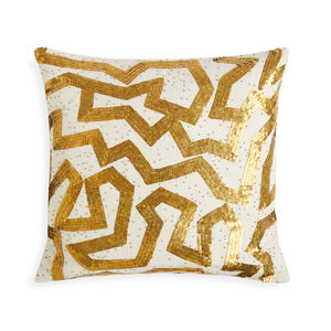 Textured & Embellished - Talitha Graffiti Throw Pillow