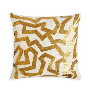 Textured & Embellished - Talitha Graffiti Throw Pillow