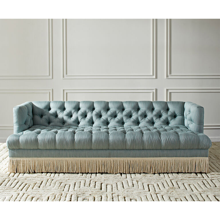 Jonathan Adler | Baxter T-Arm Sofa with Bullion Fringe 1