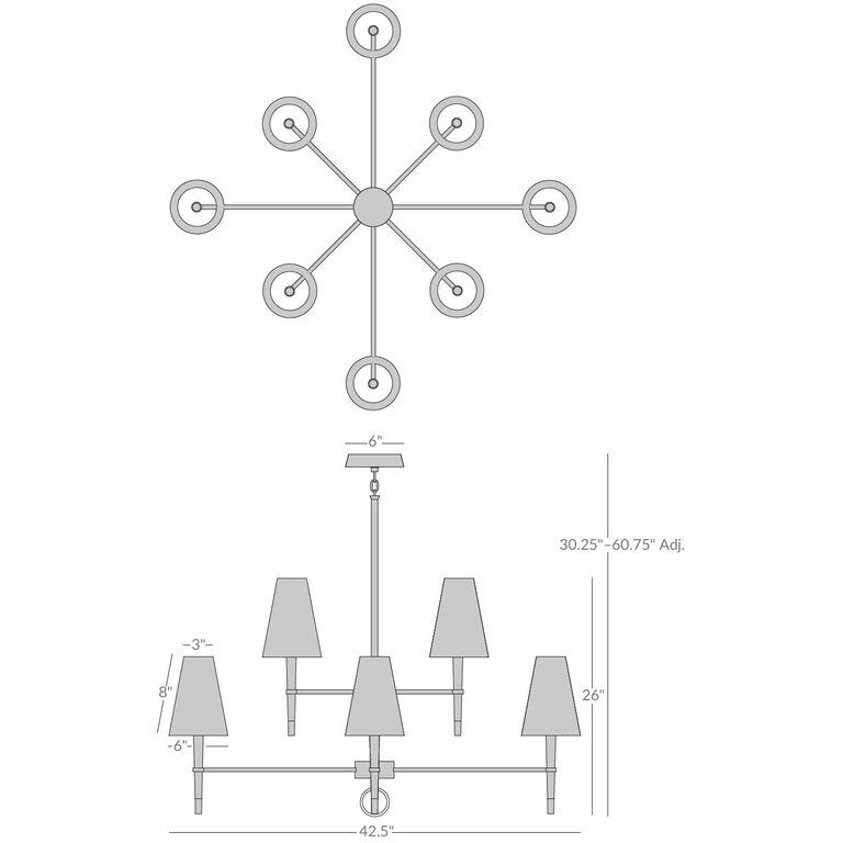 ventana two brass chandelier