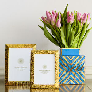 Picture Frames - Textured Brass Frame