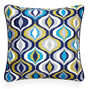 Patterned - Turquoise Bargello Waves Throw Pillow