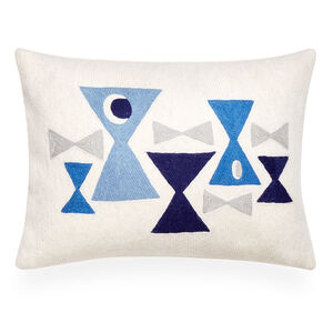 Gifts under $100 - Geo Chain Stitch Bow Ties Throw Pillow